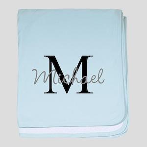 Customize Monogram Initials baby blanket