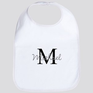 Customize Monogram Initials Cotton Baby Bib