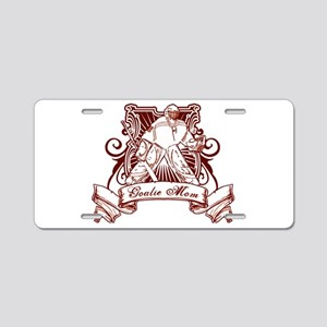 Hockey Goalie Mom Aluminum License Plate