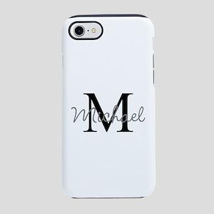 Customize Monogram Initials iPhone 7 Tough Case