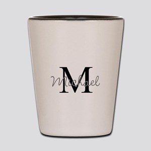 Customize Monogram Initials Shot Glass