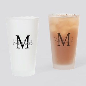 Customize Monogram Initials Drinking Glass