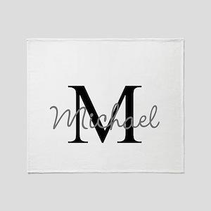 Customize Monogram Initials Throw Blanket