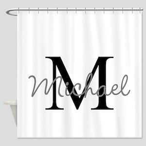 Customize Monogram Initials Shower Curtain