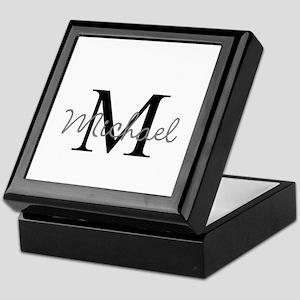 Customize Monogram Initials Keepsake Box