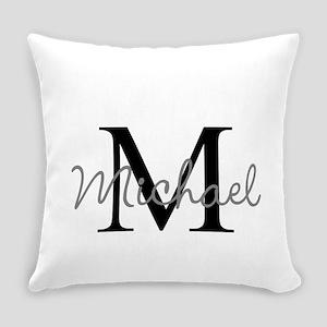 Customize Monogram Initials Everyday Pillow