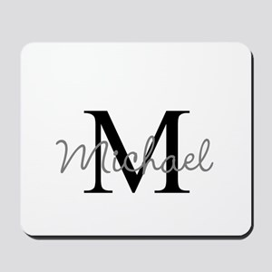 Customize Monogram Initials Mousepad
