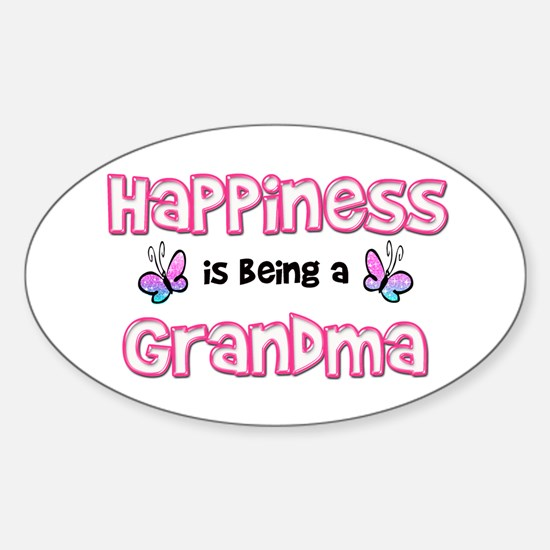 Cute Grandmother Sticker (Oval)