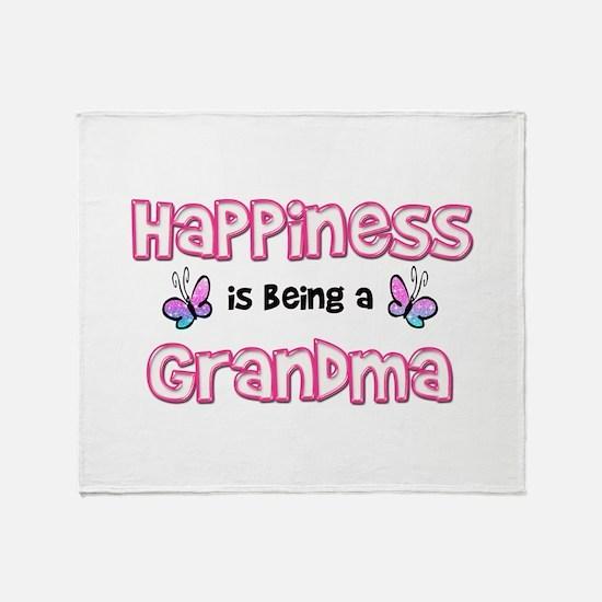 Cute Grandmother Throw Blanket