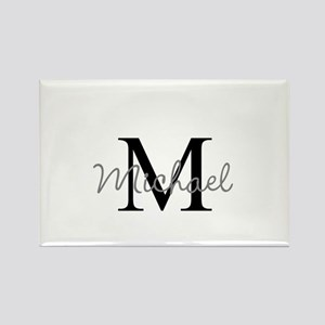 Customize Monogram Initials Rectangle Magnet