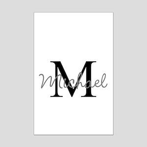 Customize Monogram Initials Mini Poster Print
