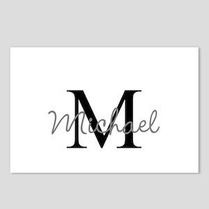 Customize Monogram Initia Postcards (Package of 8)