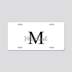 Customize Monogram Initials Aluminum License Plate