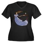 The Princess Women's Plus Size V-Neck Dark T-Shirt