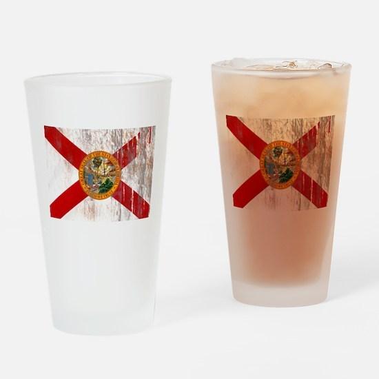 Florida Grunge Flag Drinking Glass