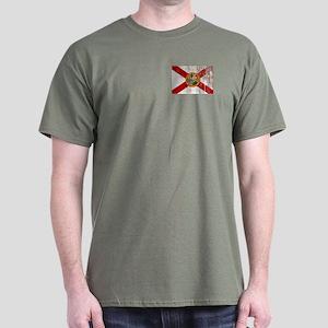 Florida Grunge Flag Dark T-Shirt