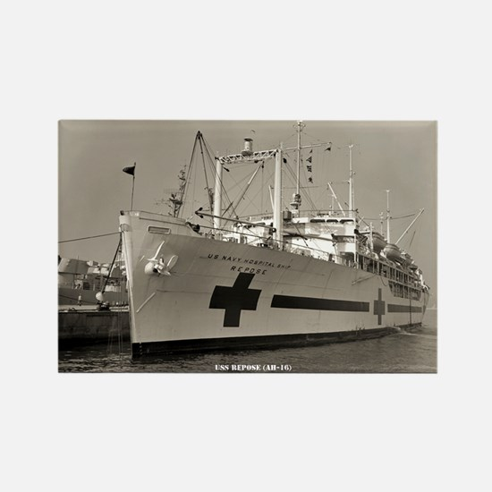 USS REPOSE Rectangle Magnet