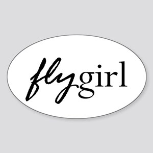 Fly Girl Oval Sticker