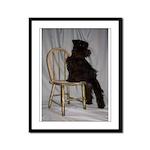 Black Miniature Schnauzer Puppy Framed Panel Print