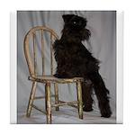 Black Miniature Schnauzer Puppy Tile Coaster