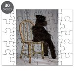 Black Miniature Schnauzer Puppy Puzzle