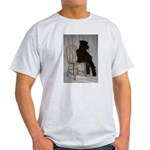Black Miniature Schnauzer Puppy Light T-Shirt