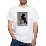 Black Miniature Schnauzer Puppy White T-Shirt