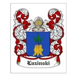 Luzinski Coat of Arms Small Poster