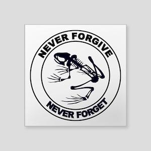 "Desert Frog - Never Forgive Square Sticker 3"" x 3"""