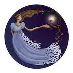 The Princess Round Car Magnet