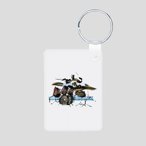 Drummer Aluminum Photo Keychain