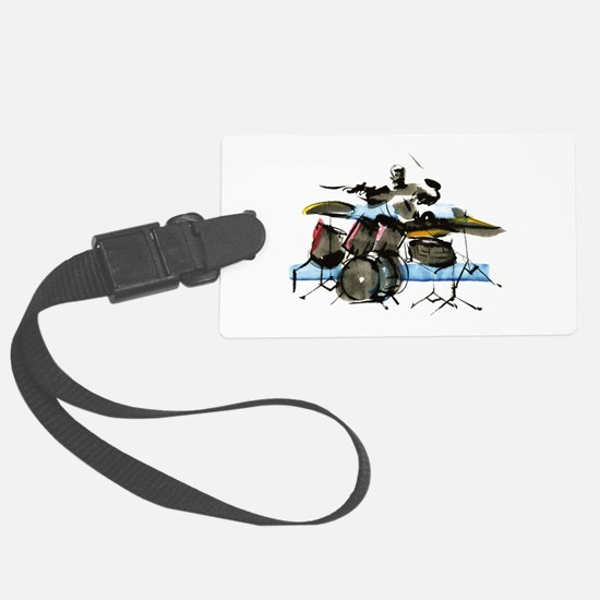 Drummer Luggage Tag