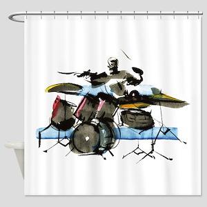 Drummer Shower Curtain