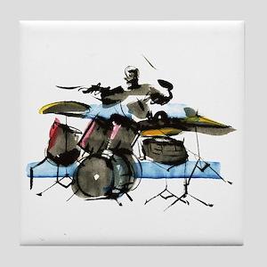Drummer Tile Coaster