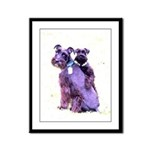 Black Schnauzer Puppy Love Framed Panel Print