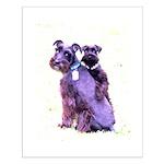 Black Schnauzer Puppy Love Small Poster