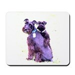 Black Schnauzer Puppy Love Mousepad