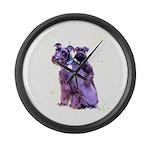 Black Schnauzer Puppy Love Large Wall Clock
