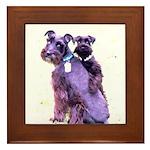 Black Schnauzer Puppy Love Framed Tile