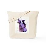 Black Schnauzer Puppy Love Tote Bag