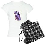 Black Schnauzer Puppy Love Women's Light Pajamas