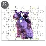 Black Schnauzer Puppy Love Puzzle