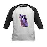 Black Schnauzer Puppy Love Kids Baseball Jersey