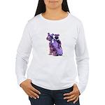 Black Schnauzer Puppy Love Women's Long Sleeve T-S