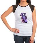 Black Schnauzer Puppy Love Women's Cap Sleeve T-Sh