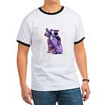 Black Schnauzer Puppy Love Ringer T