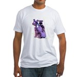 Black Schnauzer Puppy Love Fitted T-Shirt