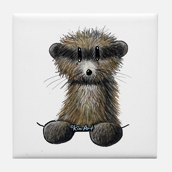 Ferret Caricature Tile Coaster