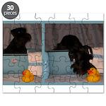 Black Mini Schnauzer Bath Puzzle