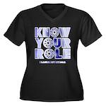 KYR Women's Plus Size V-Neck Dark T-Shirt